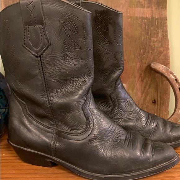 Biker boots  6.5 Spain  black soft leather